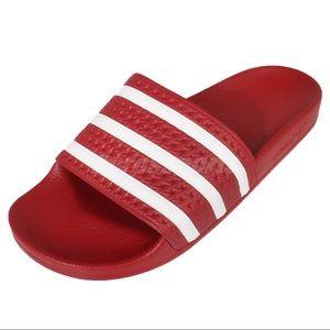 USED Adidas Adilette Sandal Slide SZ 5 Gradeschool